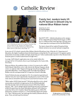 Catholic Review Article: OLPH Blue Ribbon Award