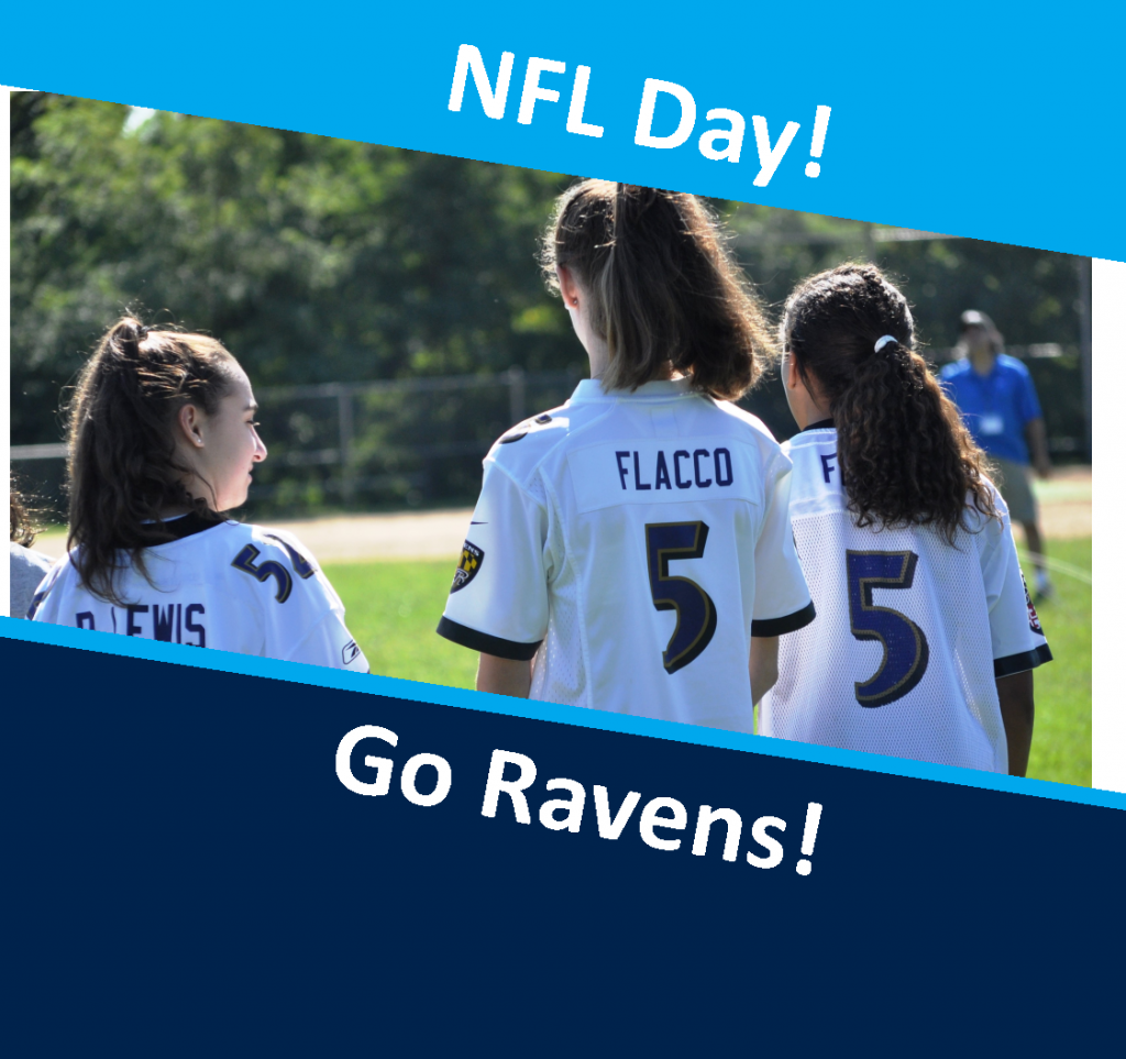 OLPH students in action - NFL day