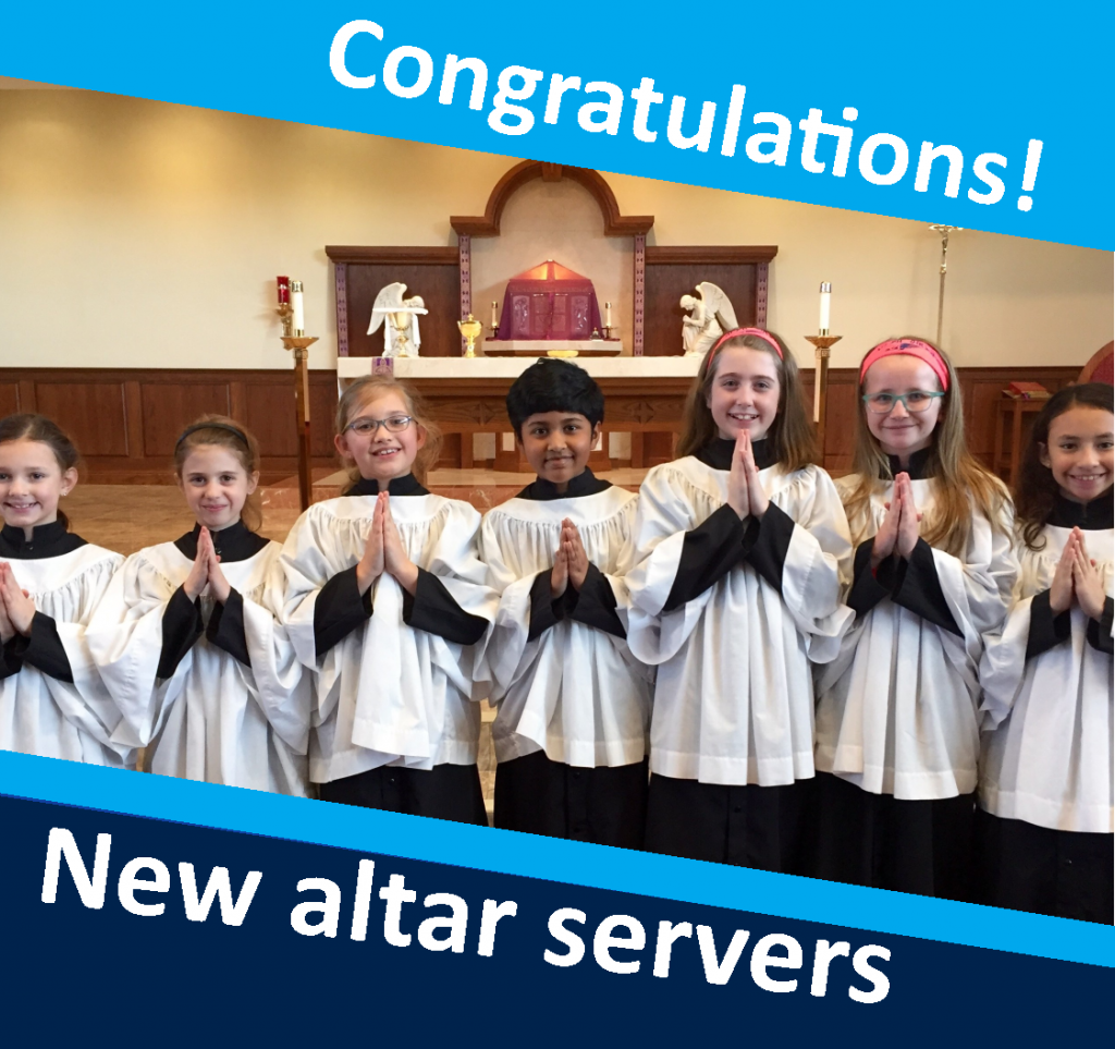 OLPH students in action - altar servers