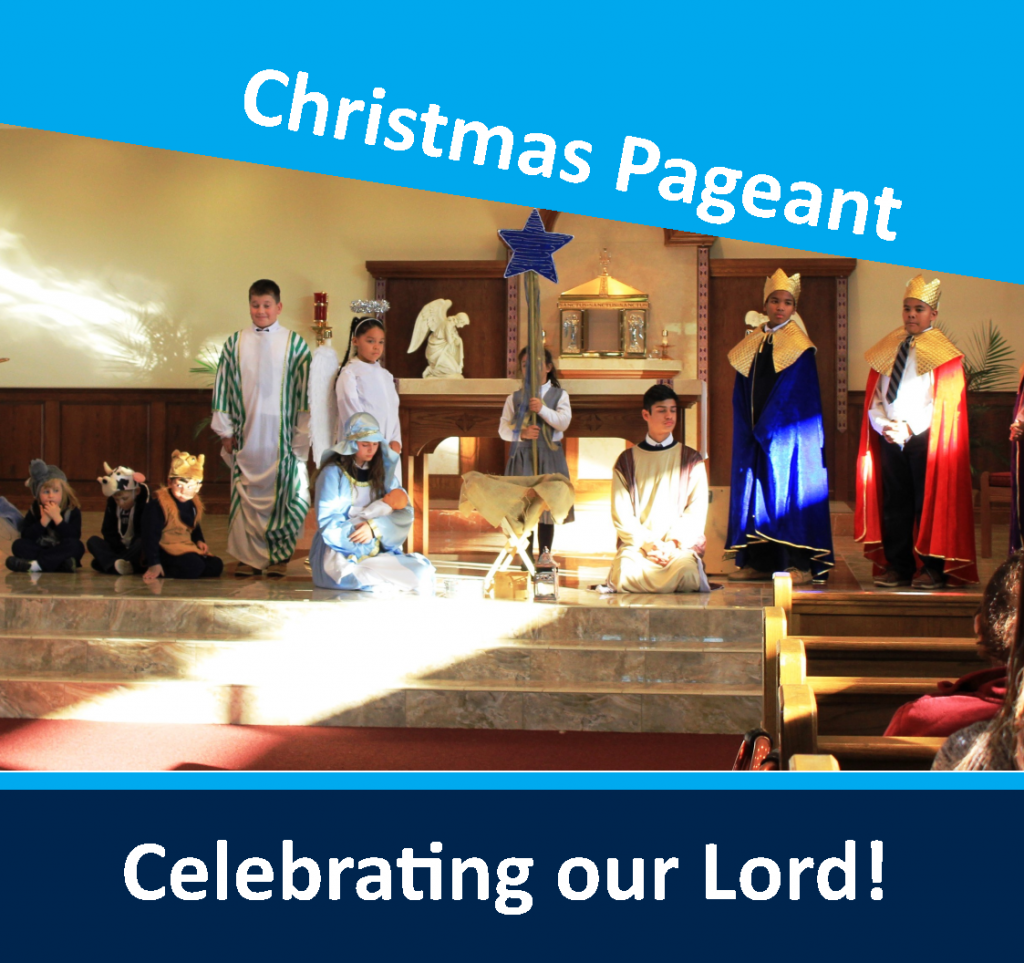 OLPH students in action - Christmas pageant