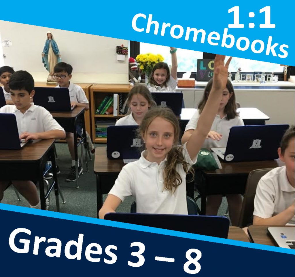 OLPH students in action - chromebooks
