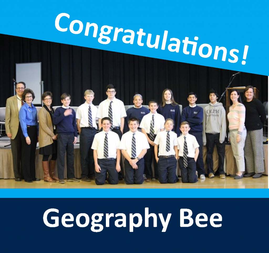 OLPH students in action - geobee