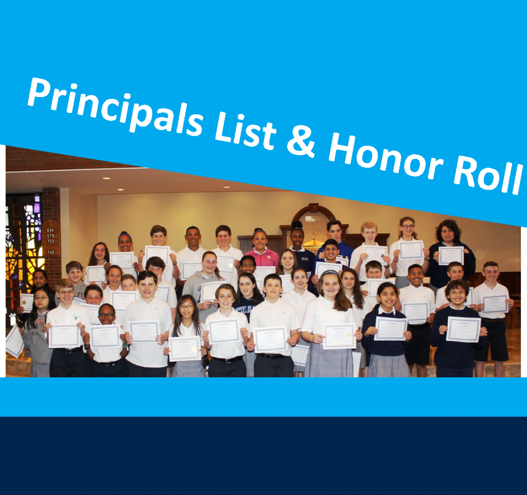 OLPH students in action - honor roll