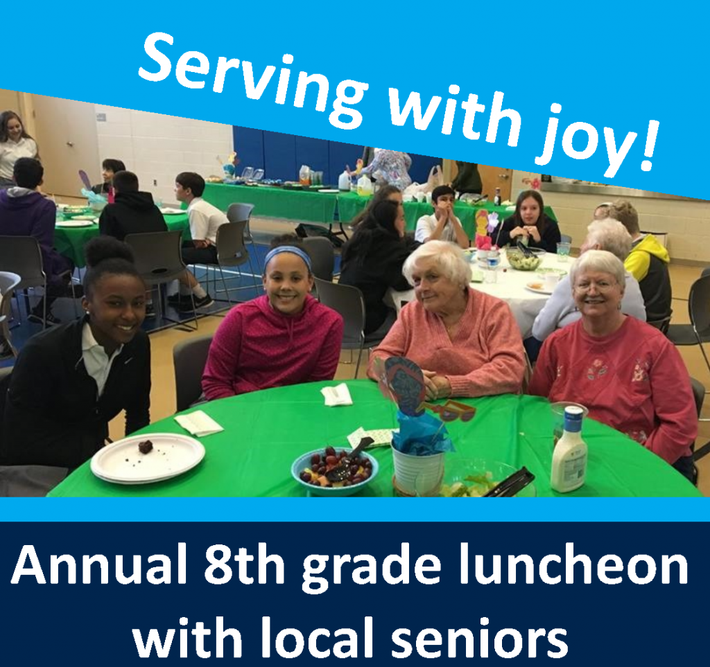 OLPH students in action - luncheon