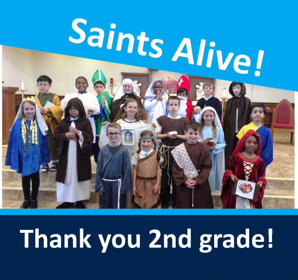 OLPH students in action - saints