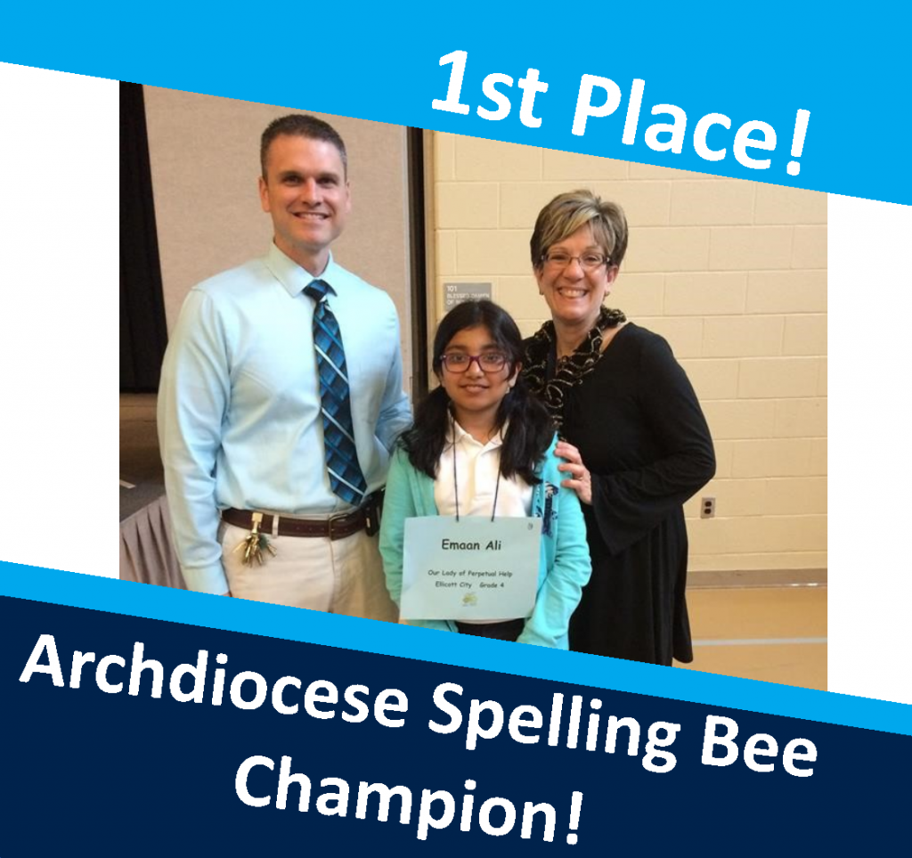 OLPH students in action - spelling bee