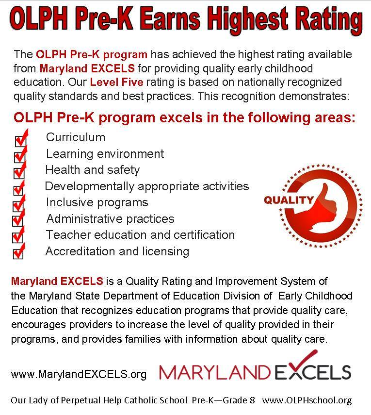 Olph Pre K Earns Highest Rating Olph School