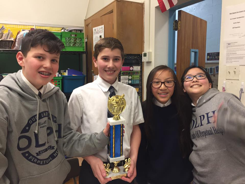 Congratulations to the OLPH It's Academic Team for 1st Place Finish