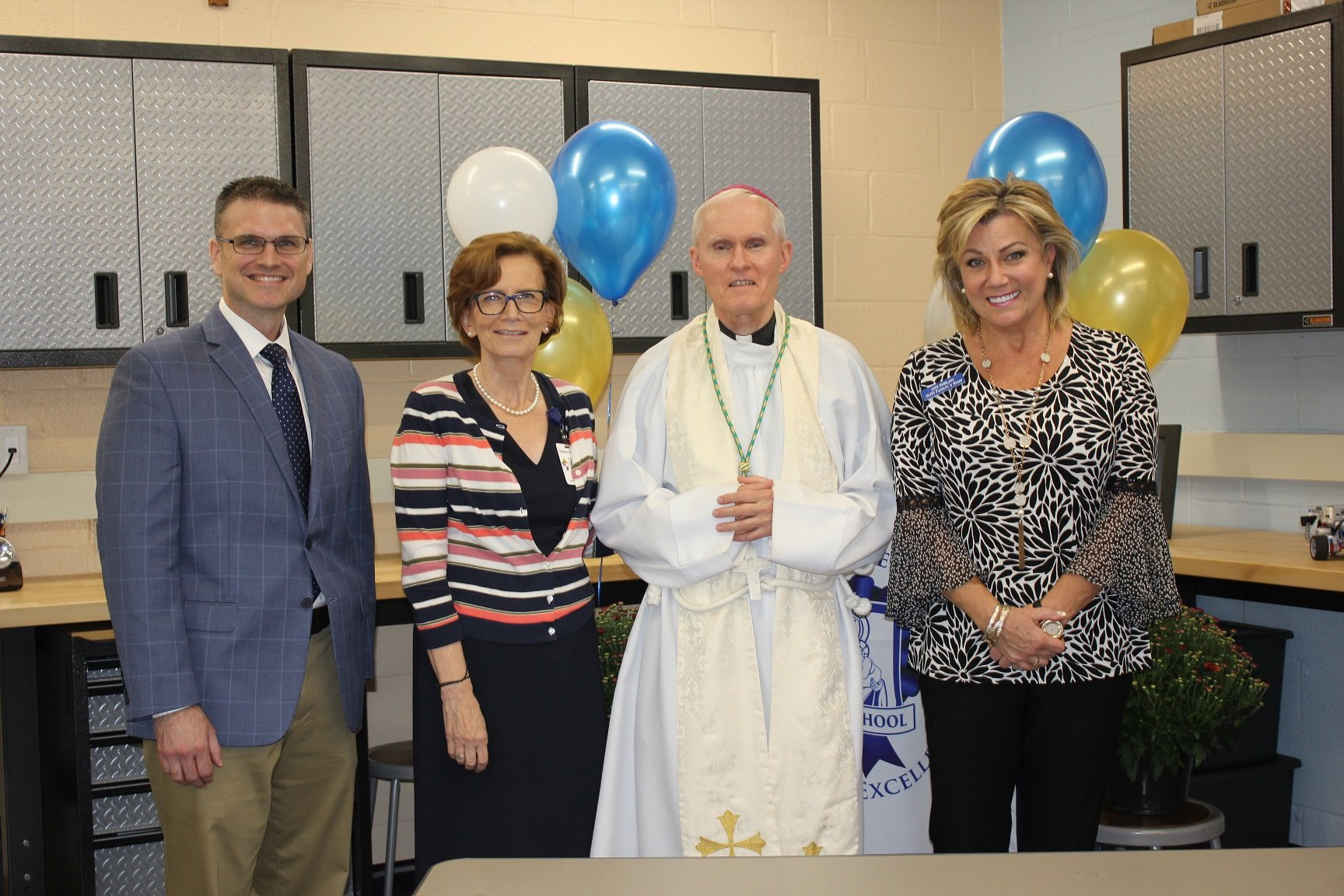 Bishop Brennan Dedicates McNulty Makerspace Engineering Lab
