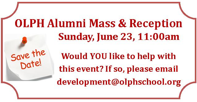 Alumni Mass save the date 2019