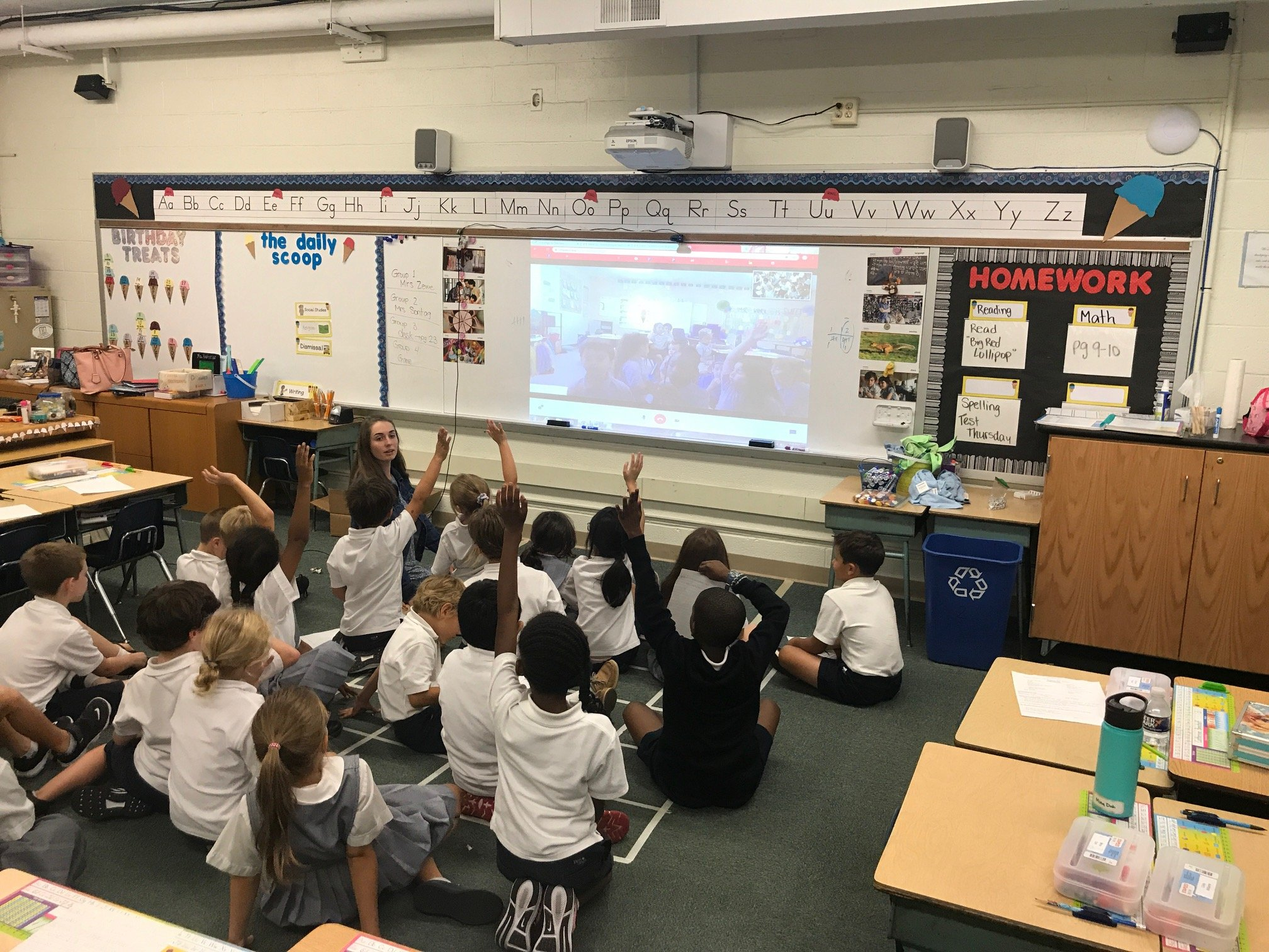 OLPH Second Grade Connects with Partner School in Florida